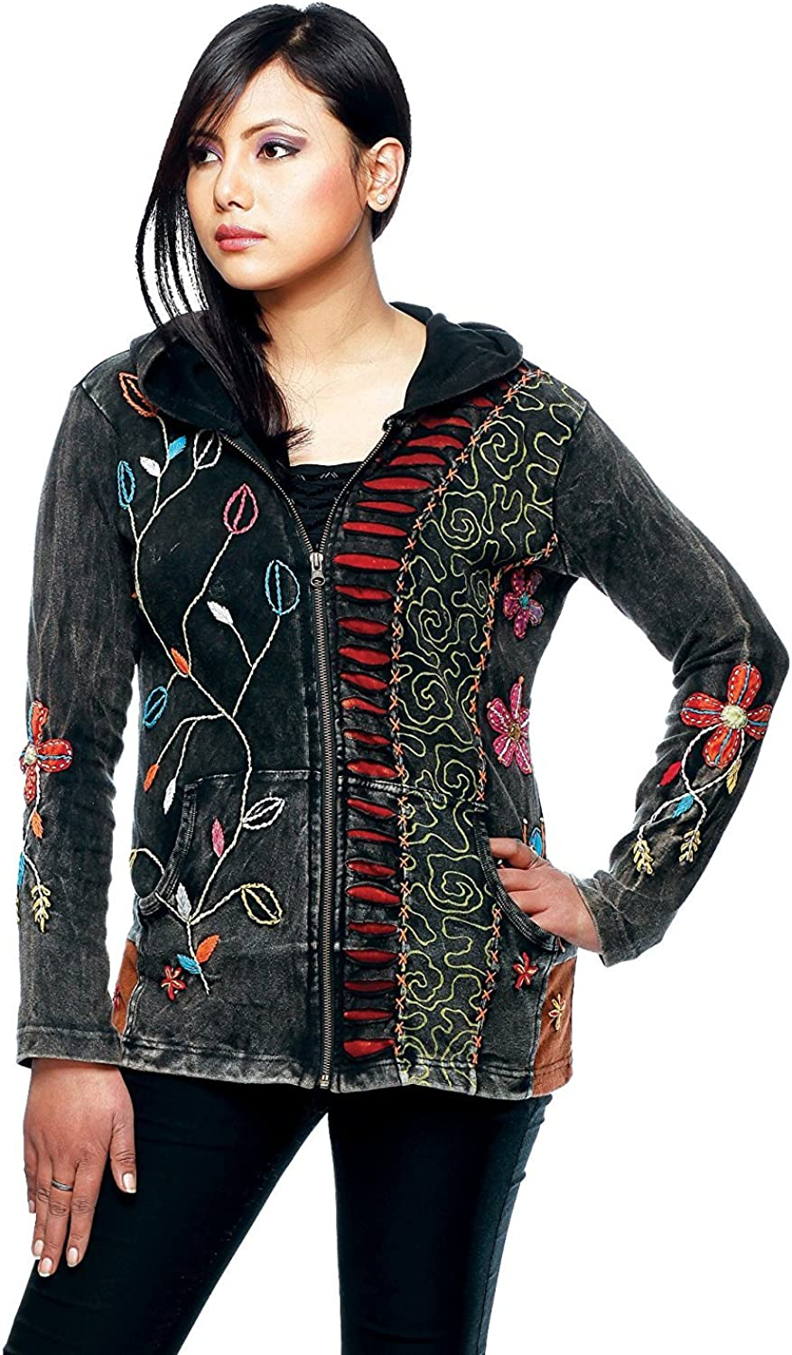 Direct sale of manufacturer Rising International Women's Max 65% OFF Flowers and Jacket Fire