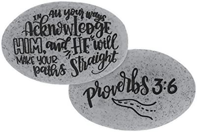 AngelStar Proverb Pocket Stone-Acknowledge Him, Multicolored