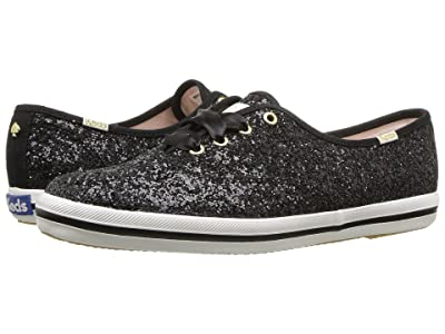 Keds x kate spade new york Champion (Black Glitter) Women