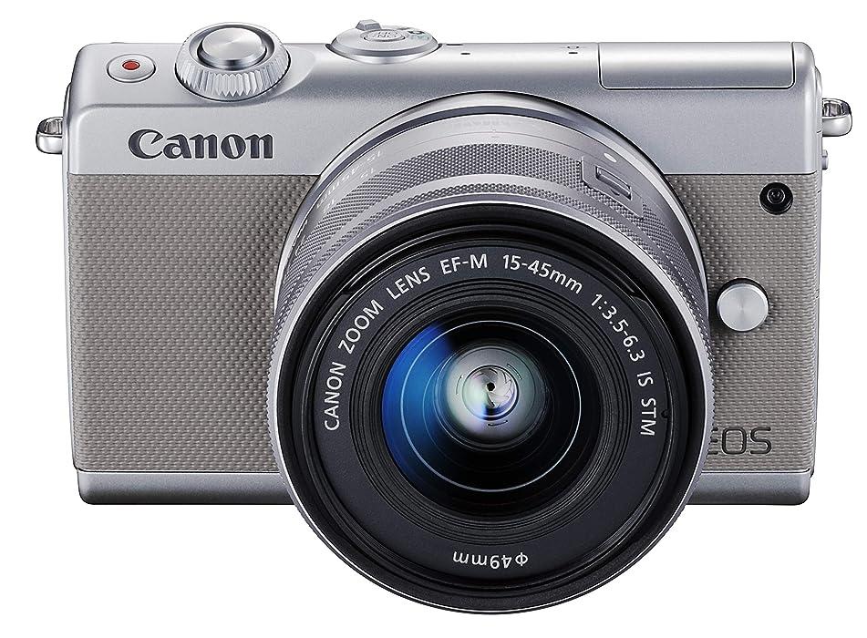 不愉快叱る落花生Canon ミラーレス一眼カメラ EOS M100 EF-M15-45 IS STM レンズキット(グレー) EOSM100GY1545ISSTMLK