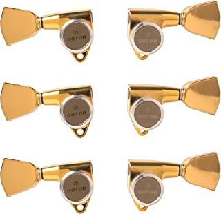 Gotoh Magnum Lock-Trad 3+3 Guitar Tuners with Keystone Knobs, Gold