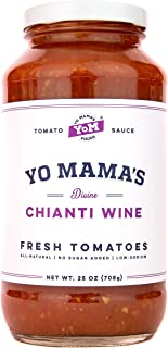 Gourmet Chianti Wine Pasta Sauce - (1) 25 oz Jar - Keto Certified, No Sugar Added, Gluten Free, Preservative Free, Paleo Friendly, and Made with Whole, Non-GMO Tomatoes!