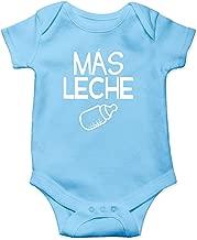 Mas Leche - Spanish Phrase More Milk - But First Milk Please - Cute One-Piece Infant Baby Bodysuit