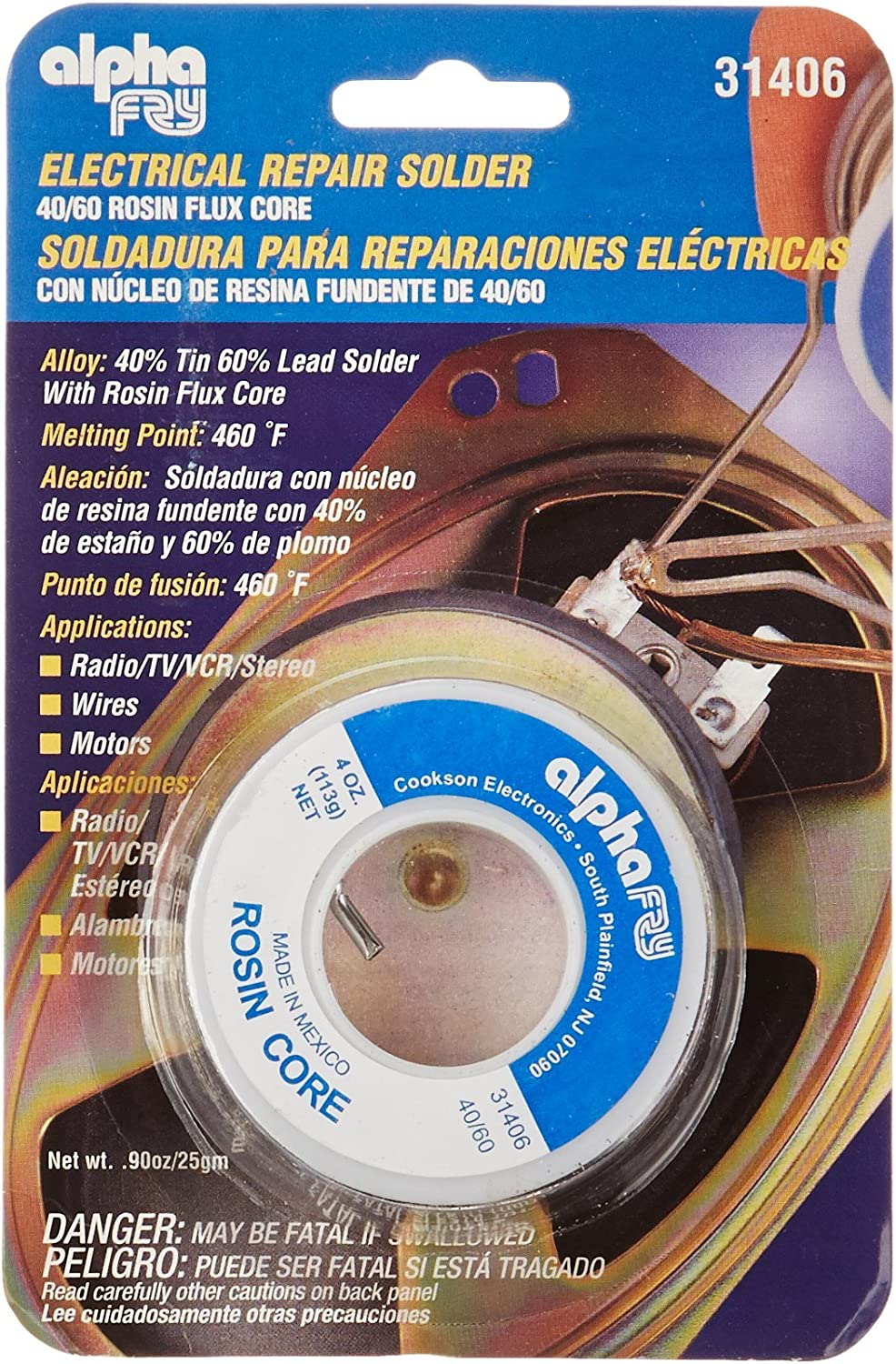 alpha 2021 model fry 24637 AM31406 Cookson Elect 60 Max 56% OFF 40 Cor Electrical Rosin