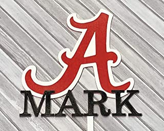 Alabama Crimson Tide Personalized Cake Topper