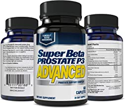 Super Beta Prostate P3 Advanced Prostate Supplement for Men – Reduce Bathroom Trips, Promote Sleep, Support Urinary Health & Bladder Emptying. Beta-Sitosterol, not Saw Palmetto. (60 Caplets, 1-Pack)