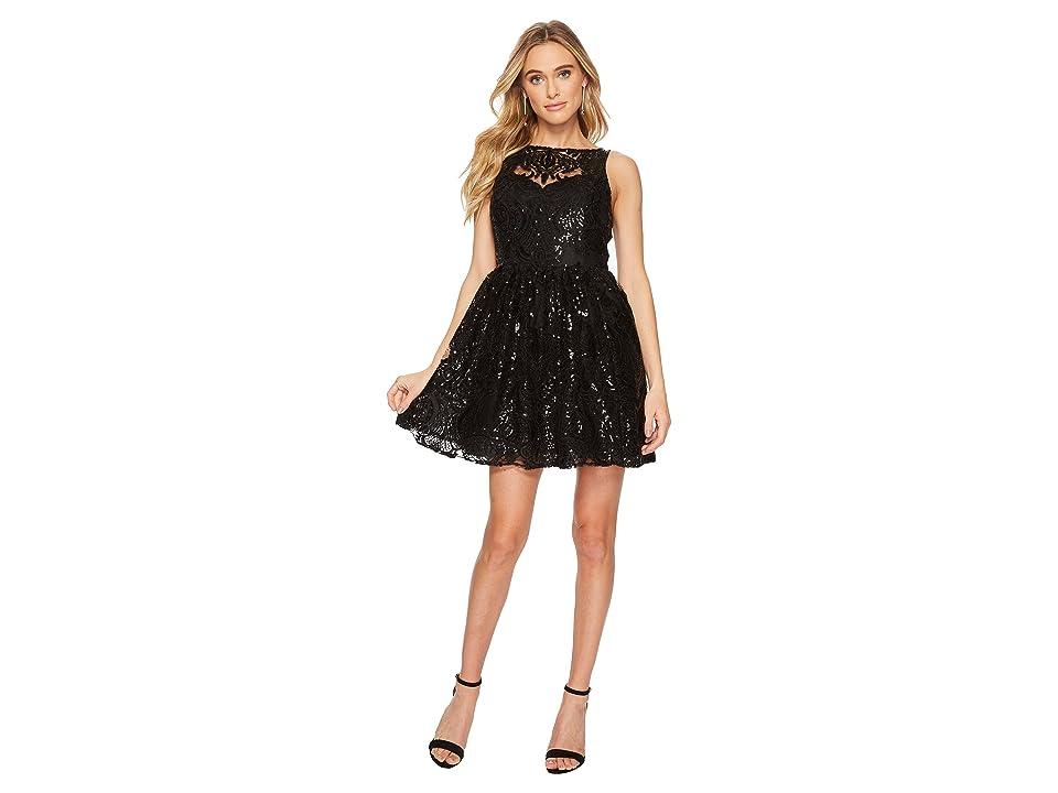 BB Dakota Tate Sequin Lace Dress (Black) Women