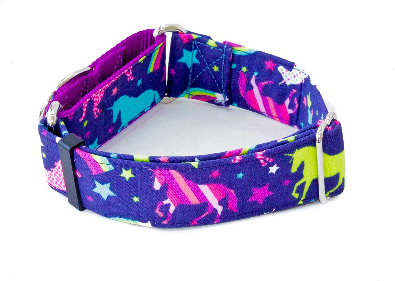 Unicorn Rainbows Memphis Mall Dog In stock Collar 1.5