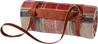 """Pendleton Motor Robe, Vintage Dress Stewart Throw Blanket, 52"""" x 66"""""""