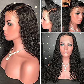 YMS Glueless Lace Front Wigs Human Hair Pre Plucked with Baby Hair 150% Density Human Hair Wigs for Black Women Brazilian Real Hair Curly Lace Wigs Human Hair (10 inch,Lace Front Wig)