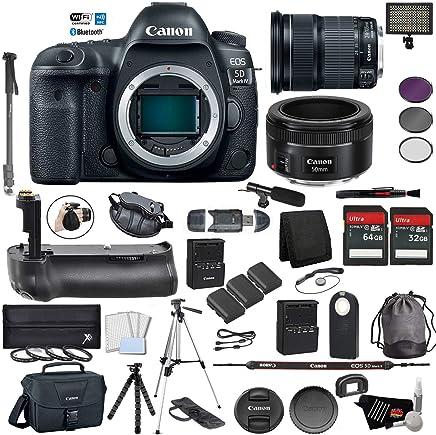 $2766 Get Canon EOS 5D Mark IV Full Frame DSLR Camera Body - Bundle with EF 24-105mm f/3.5-5.6 is STM Lens + EF 50 F 1.8 STM Lens Battery Grip + Microphone + More (International Version)