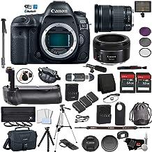 $2781 Get Canon EOS 5D Mark IV Full Frame DSLR Camera Body - Bundle with EF 24-105mm f/3.5-5.6 is STM Lens + EF 50 F 1.8 STM Lens Battery Grip + Microphone + More (International Version)