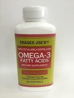 Trader Joe's Molecularly Distilled Omega-3 Fatty Acids Dietary Supplement