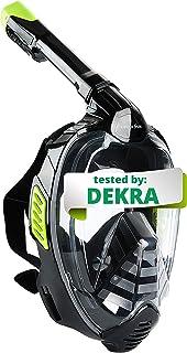comprar comparacion Khroom® Máscara de Snorkel Segura para CO2, Máscara Facial de Esnórquel Antivaho | Seaview X - Máscara de Buceo para Adult...