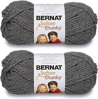 2-Pack - Bernat Softee Chunky Yarn, True Grey, Single Ball