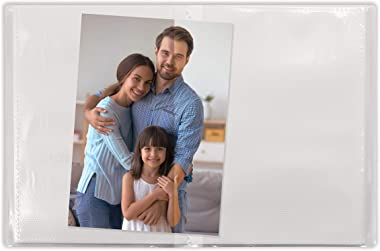 24 Photo Mini Photo Album, 4 x 6 Inch, Pack of 5, Clear View Cover, by Better Office Products, Holds 24 Photos, 5 Pack