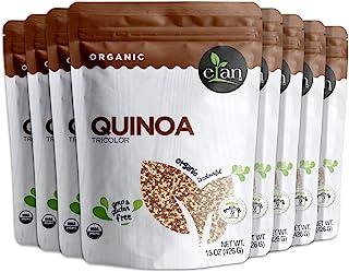 Elan ELAN Organic Tricolor Quinoa 8 Pack, 120 Oz, 15 Ounce (Pack of 8)