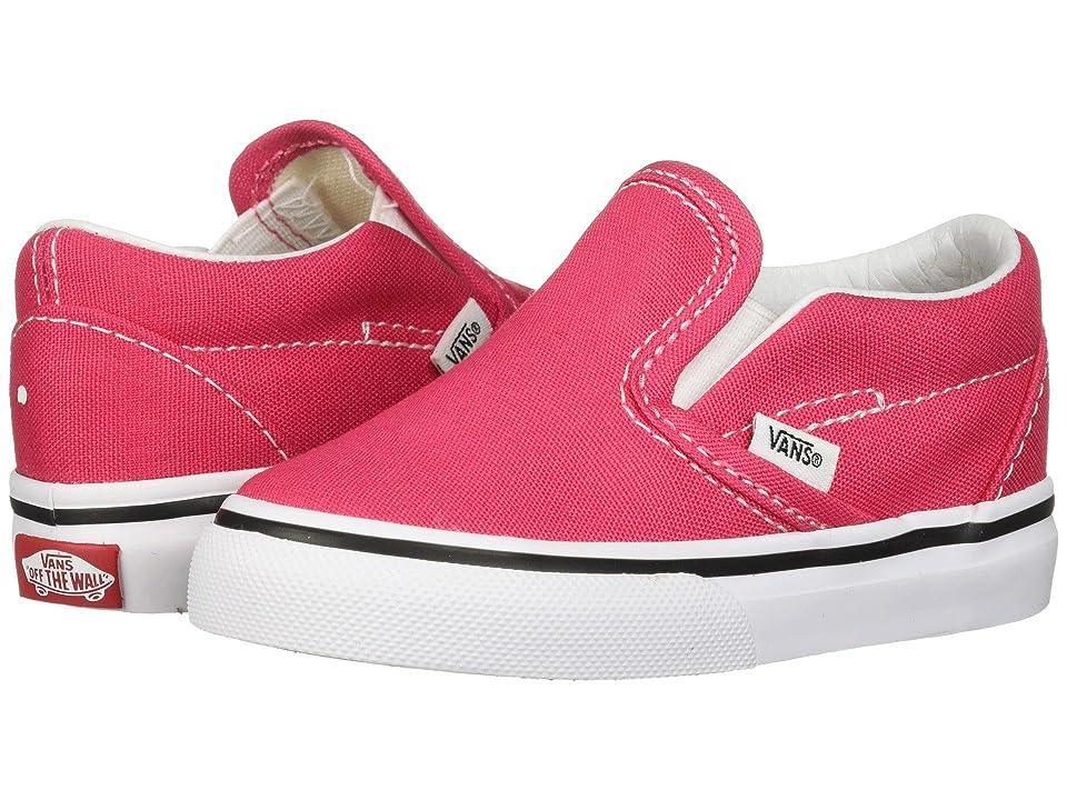 Vans Kids Classic Slip-On (Infant/Toddler) (Azalea/True White) Girls Shoes