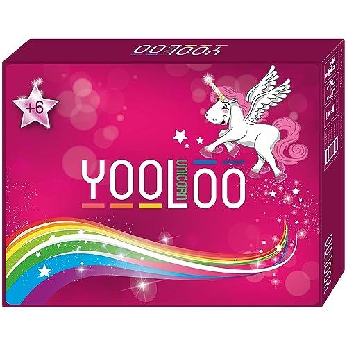 YOOLOO Unicorn - Das Coole Kartenspiel für Kinder, Eltern und Einhorn Freunde (2 bis 8 Personen, 2 Spielvarianten)