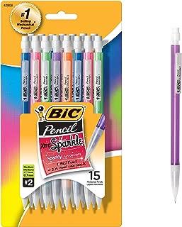 BIC Xtra Sparkle Mechanical Pencil, Colorful Barrel, Medium Point (0.7mm), 15-Count