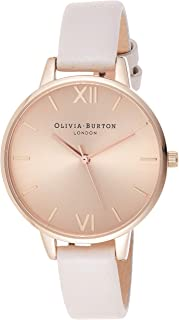 Olivia Burton Womens Quartz Watch, Analog Display and Leather Strap OB16DE08