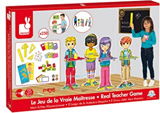 Janod Real Teacher Game – Pretend School Classroom School Readiness Kit – Ages 3+ Years, one Color (J430012)