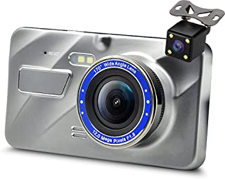 MuMn 4.0 FHD 1080P Car Dash Dual Cam, Front and Rear, Wide Angle Dash Camera, Car DVR, WDR, G-Sensor, Parking Monitor, Motion Detection, Loop Recording, Night Vision,