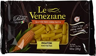 Le Veneziane - Italian Rigatoni Pasta [Gluten-Free], (4)- 8.8 oz. Pkgs