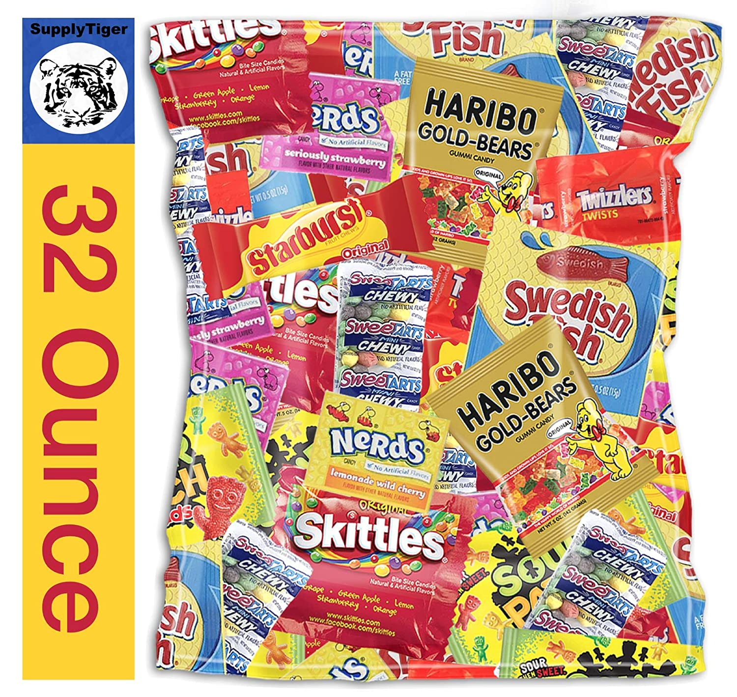 Bundle with Kids Assorted Max 74% OFF Candy supreme Sour Pack Twizzlers Patch 32oz