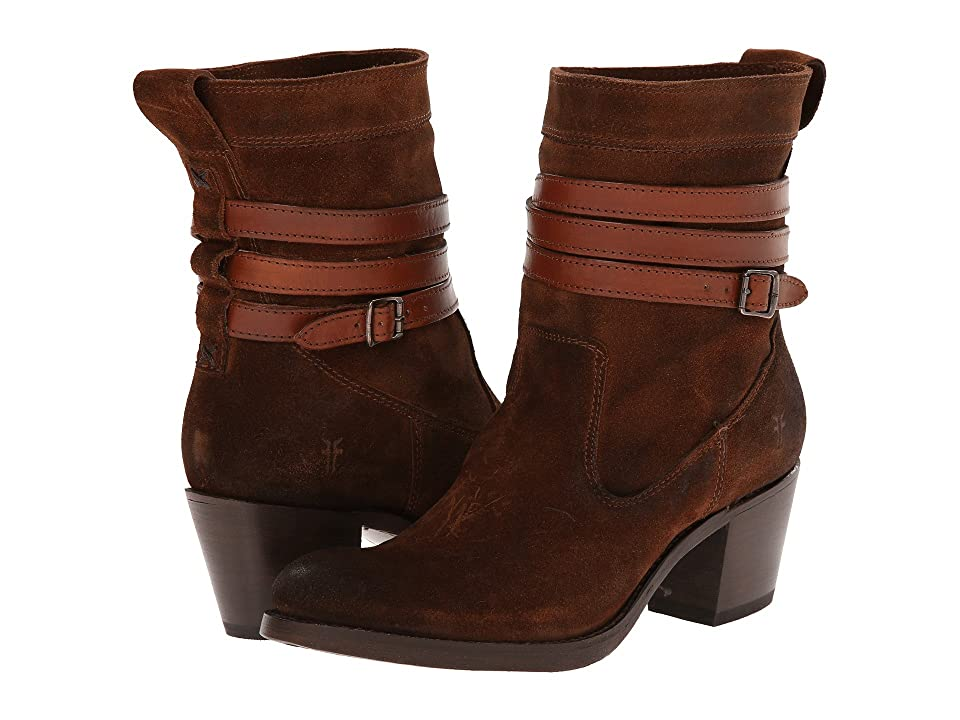 Frye Jane Strappy Short (Brown Oiled Suede) Cowboy Boots