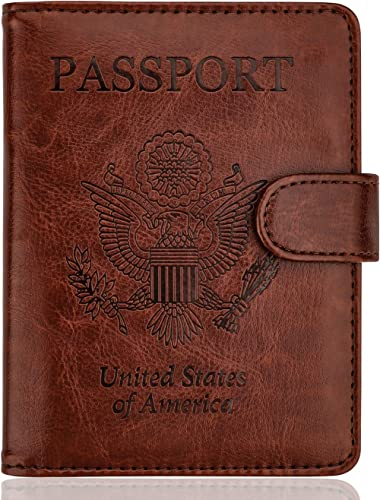 Mr Christmas Red Leather Passport Wallet for Passport Holder for Safe Trip durable Easy to Carry