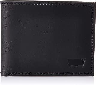 Levi's Black Men's Wallet (Oiled Batwing Bifold)
