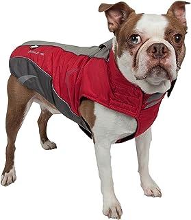 DOGHELIOS 'Altitude-Mountaineer' Wrap-Velcro Protective Waterproof Pet Dog Coat Jacket w/Blackshark Technology Large, Red,...