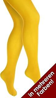 Thetru Thetru Kinder-Strumpfhose | Größe 140/152 | Blickdichte-Strumpfhose gelb