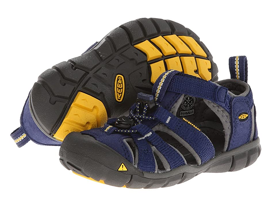 Keen Kids Seacamp II CNX (Toddler/Little Kid) (Blue Depths/Gargoyle) Kids Shoes
