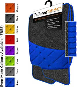 Car Mats Fit Juke  2010   Anthracite Tailored Car Mats  amp  Blue Trim  amp  Blue Double Ultra Thick Full Width Heel Pad