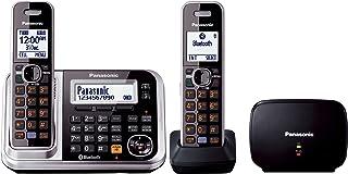 Panasonic KX-TG7882AZS Cordless Phone, Black and Silver
