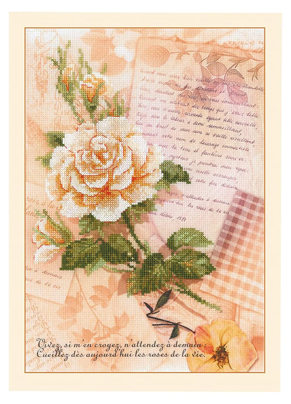 RIOLIS 0035 - Love Letters. Rose - Counted Cross Stitch Kit 8