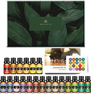 MAGANIO Classic Essential Oils Gift Set Top 20 [Selected A+ Plants] 100% Pure Natural, 10ML Therapeutic Grade Organic Oils...