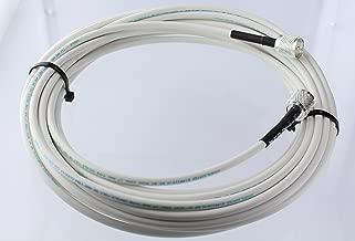 MPD Digital RG8x-W-PL259-65ft VHF Antenna Cable RF CB & AIS Mini-8 Coaxial Jumper Silver Teflon PL-259 65'