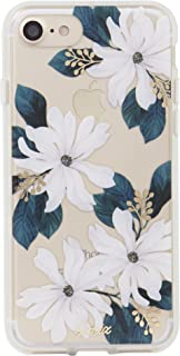 Sonix Delilah Flower Case [Military Drop Test Certified] Women's Protective White Floral Clear Case for Apple iPhone 6, iPhone 6s, iPhone 7, iPhone 8