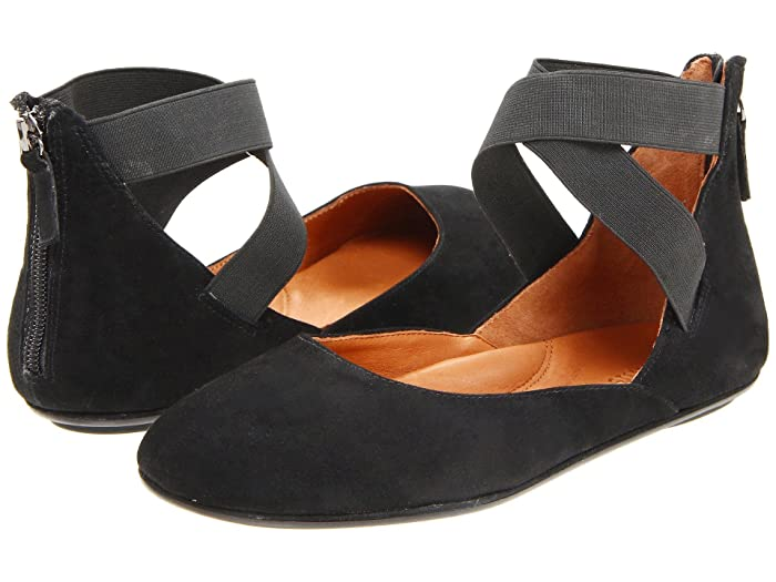 Gentle Souls by Kenneth Cole  Bay Unique (Black Suede) Womens Flat Shoes