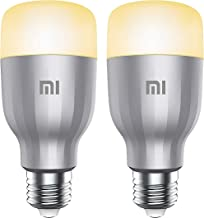 Xiaomi Mi LED Wi-Fi Enabled Smart Bulb E27 White & Colour, 10 W - 2 Pack