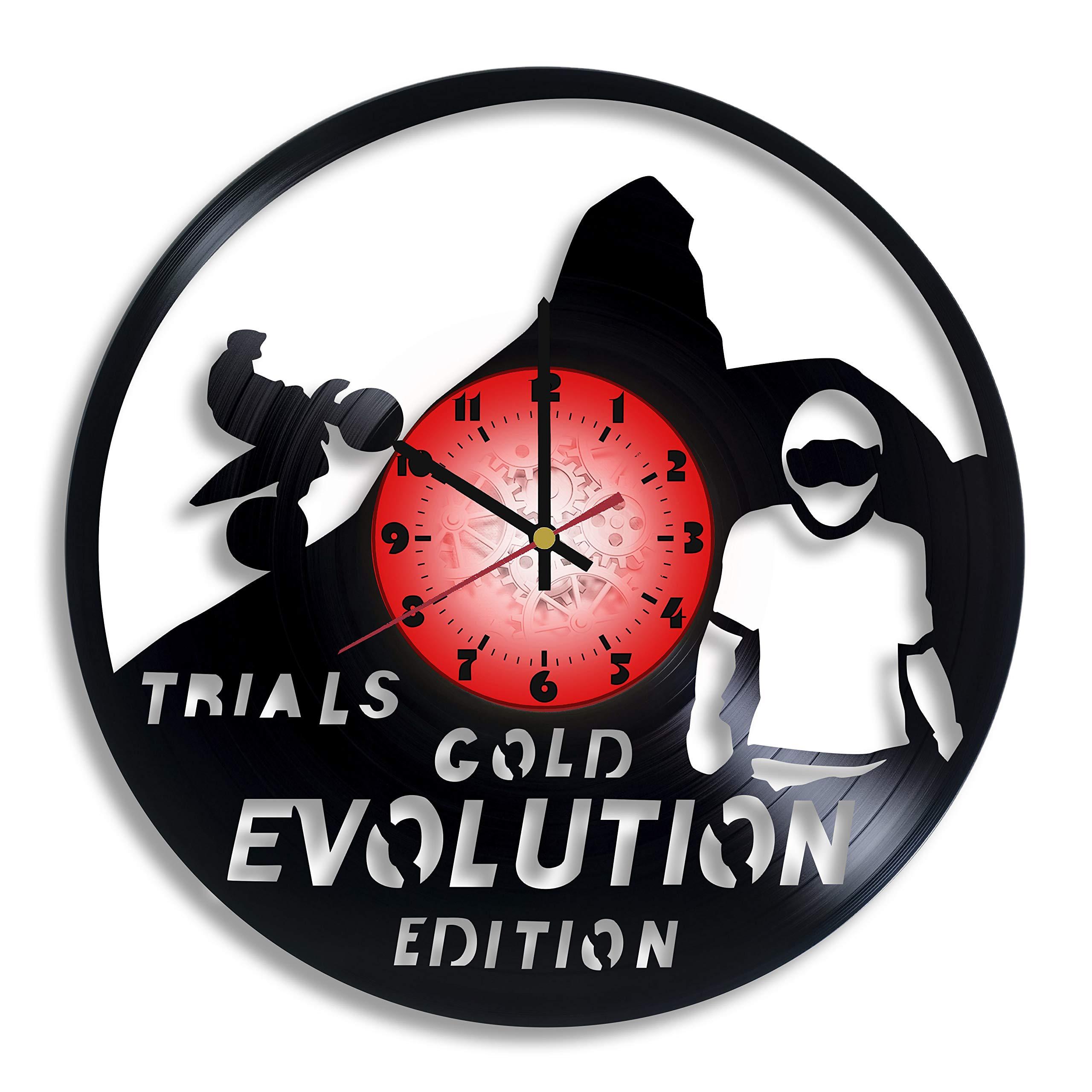Trials Evolution Computer Game Logo Handmade Vinyl Record Wall