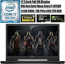 "Dell G7 17 7790 2020 Flagship Gaming Laptop I 17.3"" FHD I 8th Gen Intel 6-Core i7-8750H I 32GB DDR4 1TB PCIe SSD 2TB HDD I..."