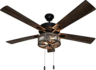 River of Goods 52 Inch Width Farmhouse LED Ceiling Fan,...