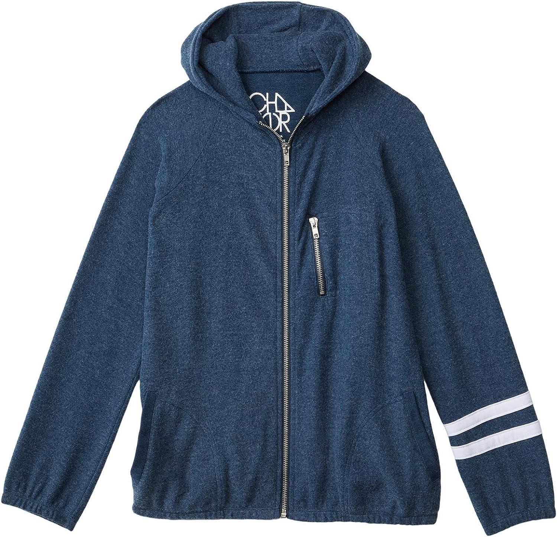 Chaser Kids Boy's Love Knit Long Sleeve Zip-Up Hoodie (Toddler/Little Kids) Avalon/White 4T