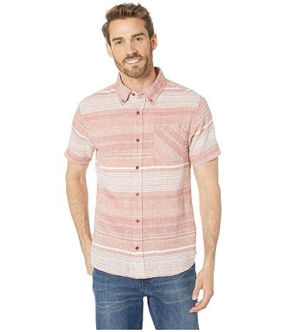 United By Blue Ridgerunner Short Sleeve Stripe Button Down (Canyon Orange) Men