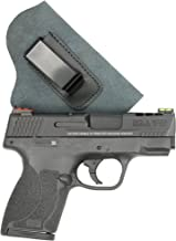 ComfortTac Suede Leather IWB Holster Right Hand Draw - Fits Glock 19 23 26 27 29 30 32 33 36 43, S&W M&P Shield Springfield XD XDS Sig Sauer P239 Walther P99 and Similar Guns