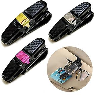 Gurxi 3 Stücke Auto Sonnenbrille Clip Auto Visor Sonnenbrille Clip Holder Sonnenbrillen Brillen mit Kartenkarten Clip Brillenhalter für Auto Sonnenblende Auto Sonnenbrille Brillen